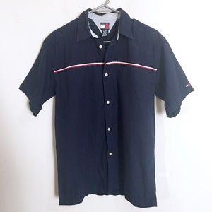 Tommy Hilfiger Blue Button Front Shirt L ( M )